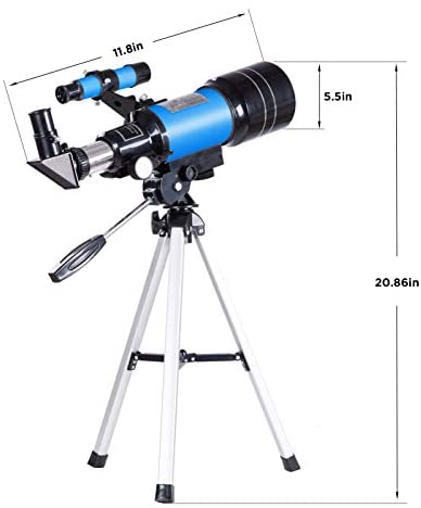 41XynHKVGsL. AC  - FREE SOLDIER Telescope for Kids Astronomy Beginners - 70mm Aperture High Magnification Astronomical Refractor Telescope with Phone Adapter Wireless Remote Portable Telescope for Kids, Blue