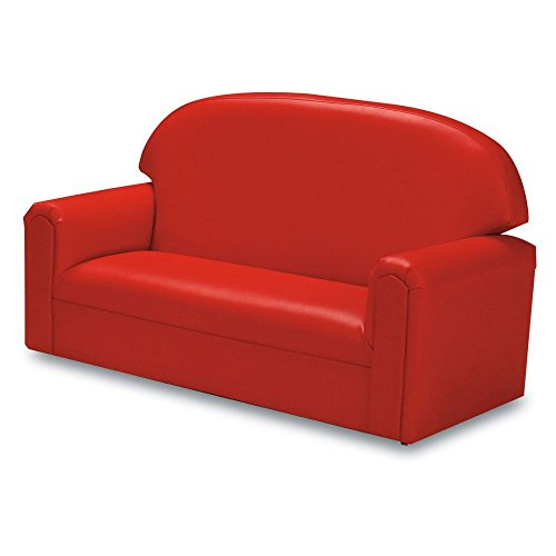 41h4VDoiiXL - Brand New World Furniture FIVR100 Brand New World Toddler Premium Vinyl Upholstery Sofa, Red