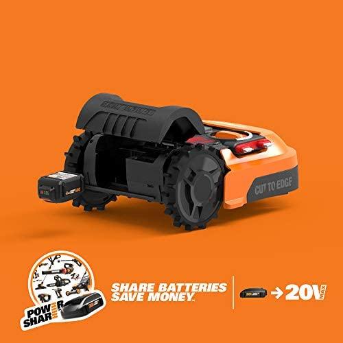 41hEnux5U9L. AC  - WORX WR140 Landroid M 20V Power Share Robotic Lawn Mower, Orange