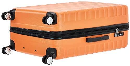 41jDHHBfWCL. AC  - Amazon Basics Premium Hardside Spinner Suitcase Luggage with Wheels - 20-Inch, 28-Inch, Orange