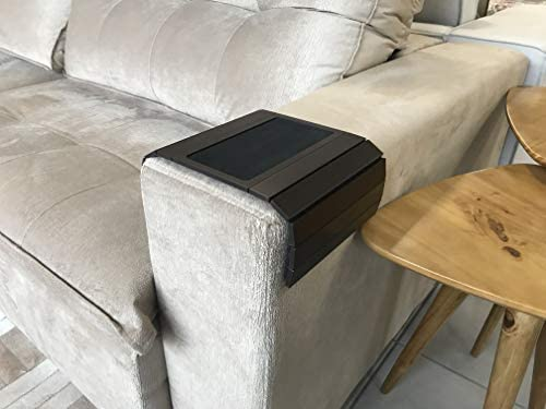 41ji0hhMNuL. AC  - Sofa Couch Arm Tray Table with EVA Base. Weighted Sides. Fits Over Square Chair arms.