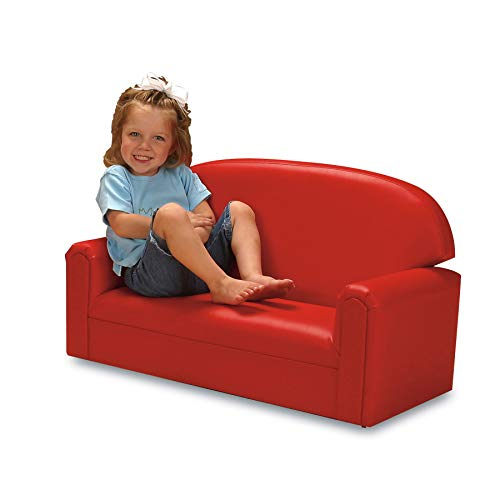 41l9DgflRWL - Brand New World Furniture FIVR100 Brand New World Toddler Premium Vinyl Upholstery Sofa, Red