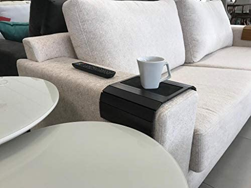 41lZFPo5vEL. AC  - Sofa Couch Arm Tray Table with EVA Base. Weighted Sides. Fits Over Square Chair arms.