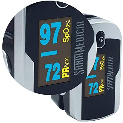 41ri4YoDspL. AC  - Santamedical Generation 2 Fingertip Pulse Oximeter Oximetry Blood Oxygen Saturation Monitor with Batteries and Lanyard
