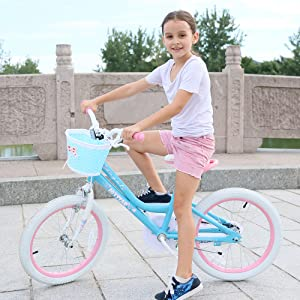43d15fc3 6ce2 465b 9ff8 bc46904bc988. CR0,0,1000,1000 PT0 SX300   - JOYSTAR Angel Girls Bike 12 14 16 18 Inch Kids Bike with Training Wheels for 2-9 Years Old, 18 Inch Kids Bike with Kickstand, Toddler Bicycle, Blue, Fuchsia, Purple