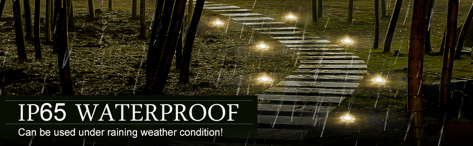 440e3f91 abb7 444c a864 2d5ef14013e7.  CR0,0,970,300 PT0 SX970 V1    - YUNLIGHTS 8PCS Solar Lights Outdoor, Solar Ground Lights with 9 LEDs, Disk Lights Garden Solar Lights Auto On/Off, IP65 Waterproof Yard Solar Lights for Lawn Pathway Yard Driveway Walkway Warm White