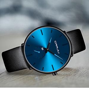 4ad9c96c 678f 47a9 88a1 ea8a43ce9c2e.  CR0,0,300,300 PT0 SX300 V1    - Mens Watches Ultra-Thin Minimalist Waterproof-Fashion Wrist Watch for Men Unisex Dress with Leather Band