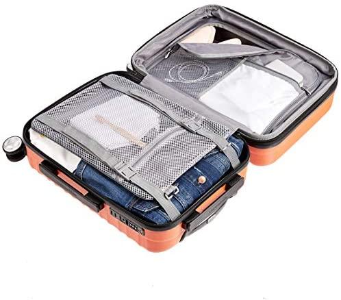 510aD cz+uL. AC  - Amazon Basics Premium Hardside Spinner Suitcase Luggage with Wheels - 20-Inch, 28-Inch, Orange