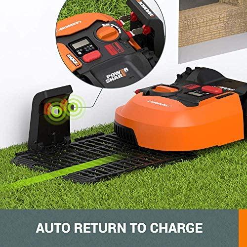 513966Rjn L. AC  - WORX WR140 Landroid M 20V Power Share Robotic Lawn Mower, Orange