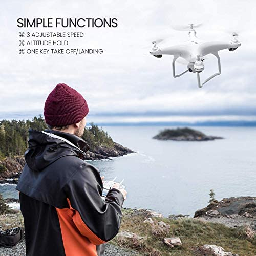 515XHXvPJTL. AC  - Potensic D58 FPV Drone with 2K Camera for Adults, 5G WiFi HD Live Video, GPS Auto Return, RC Quadcopter for Beginners, Portable Case, 2 Batteries, Follow Me, Tap Fly, Altitude Hold, Expert-Upgraded