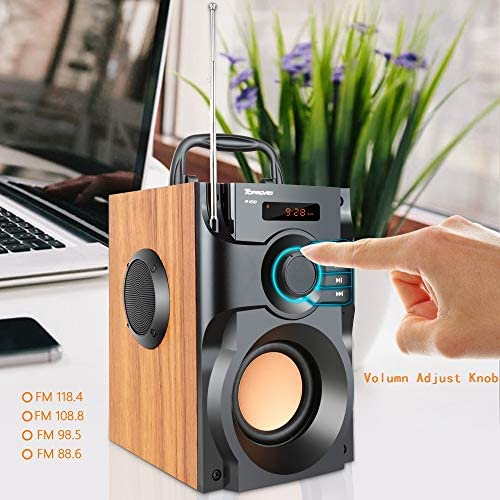 518Cy8AZxWL. AC  - Portable Bluetooth Speaker Wireless Subwoofer Stereo Bass Speakers Outdoor Powerful Speaker Support Remote Control FM Radio for Home Party, Travel, Camping, Indoor