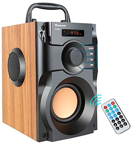 51FuiK+lCSL. AC  - Portable Bluetooth Speaker Wireless Subwoofer Stereo Bass Speakers Outdoor Powerful Speaker Support Remote Control FM Radio for Home Party, Travel, Camping, Indoor