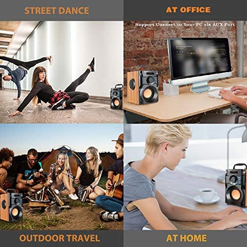 51LwFni+BRL. AC  - Portable Bluetooth Speaker Wireless Subwoofer Stereo Bass Speakers Outdoor Powerful Speaker Support Remote Control FM Radio for Home Party, Travel, Camping, Indoor
