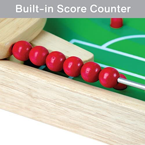 51NHEm6z5QL. AC  - Flipkick: Wooden Tabletop Football/Soccer Pinball Games, Indoor Portable Sport Table Board for Kids and Family