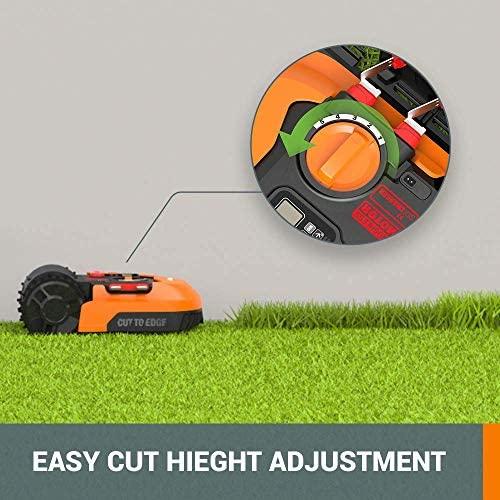 51OBrmtp+wL. AC  - WORX WR140 Landroid M 20V Power Share Robotic Lawn Mower, Orange