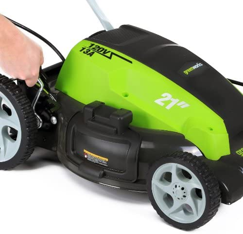 51OvGRw0PNL. AC  - Greenworks 21-Inch 13 Amp Corded Electric Lawn Mower 25112