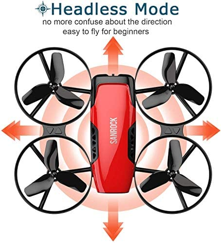 51PKJswzF9L. AC  - SANROCK U61W Drones for Kids with Camera, Mini RC Drone Quadcopter with 720P HD WiFi FPV Camera, Support Altitude Hold, Route Making, Headless Mode, One-Key Start, Emergency Stop, Great Gift for Boys Girls