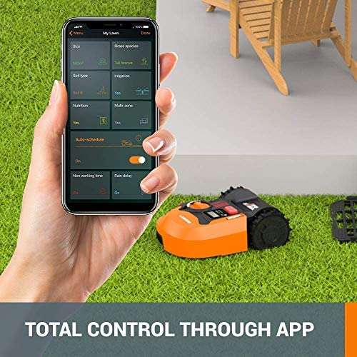 51PvZG9XwpL. AC  - WORX WR140 Landroid M 20V Power Share Robotic Lawn Mower, Orange