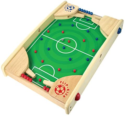 51Wz+ieLjuL. AC  - Flipkick: Wooden Tabletop Football/Soccer Pinball Games, Indoor Portable Sport Table Board for Kids and Family