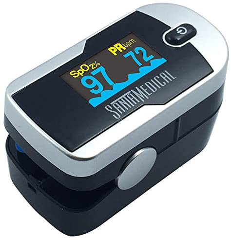 51X718PTTAL. AC  - Santamedical Generation 2 Fingertip Pulse Oximeter Oximetry Blood Oxygen Saturation Monitor with Batteries and Lanyard