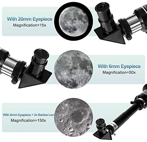 51bCPISYPfL. AC  - Occer Telescopes for Adults Kids - Portable Telescope for Beginners for View Moon - 70mm Aperture 300mm Lightweight Refracting Telescopes with Adjustable Tripod Moon Filter Wireless Remote