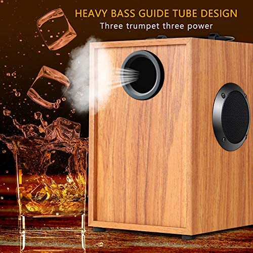 51dLn5SK6BL. AC  - Portable Bluetooth Speaker Wireless Subwoofer Stereo Bass Speakers Outdoor Powerful Speaker Support Remote Control FM Radio for Home Party, Travel, Camping, Indoor
