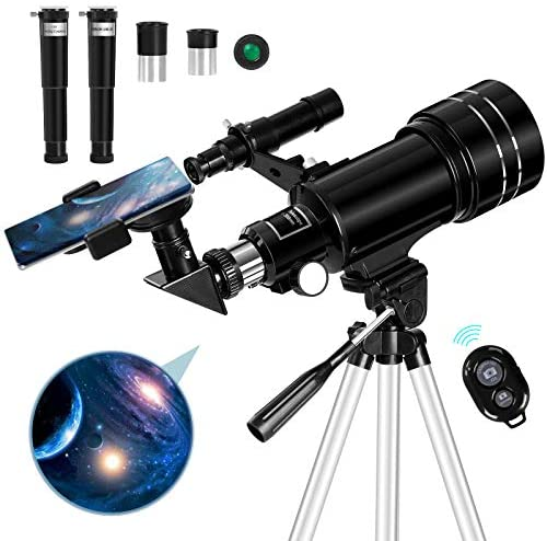 51eek9eYDIL. AC  - Occer Telescopes for Adults Kids - Portable Telescope for Beginners for View Moon - 70mm Aperture 300mm Lightweight Refracting Telescopes with Adjustable Tripod Moon Filter Wireless Remote