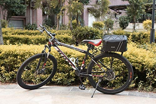 51i7J2JrZlL. AC  - ERRLANER Bicycle Rack Rear Carrier Bag Insulated Trunk Cooler PU Leather Waterproof 11L/7L Large Capacity Storage Luggage Pouch Reflective MTB Bike Pannier Shoulder Bag with Rain Cover