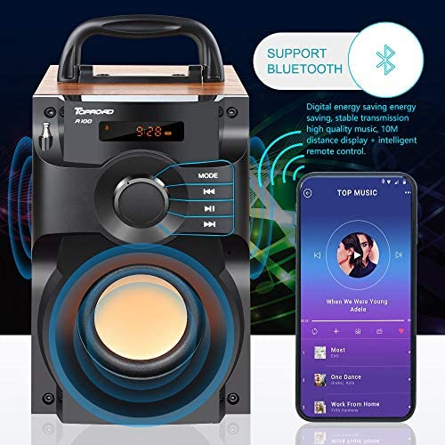 51ihbnN81JL. AC  - Portable Bluetooth Speaker Wireless Subwoofer Stereo Bass Speakers Outdoor Powerful Speaker Support Remote Control FM Radio for Home Party, Travel, Camping, Indoor