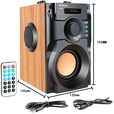51mxIpiwODL. AC  - Portable Bluetooth Speaker Wireless Subwoofer Stereo Bass Speakers Outdoor Powerful Speaker Support Remote Control FM Radio for Home Party, Travel, Camping, Indoor