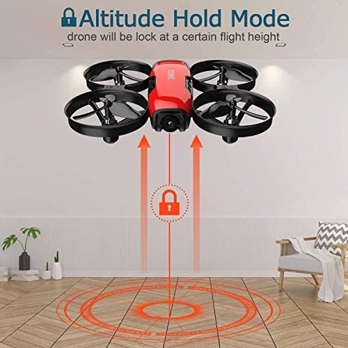 51q+r9z499L. AC  - SANROCK U61W Drones for Kids with Camera, Mini RC Drone Quadcopter with 720P HD WiFi FPV Camera, Support Altitude Hold, Route Making, Headless Mode, One-Key Start, Emergency Stop, Great Gift for Boys Girls