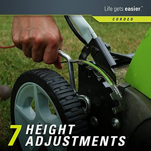 51sVb1UbXuL. AC  - Greenworks 21-Inch 13 Amp Corded Electric Lawn Mower 25112