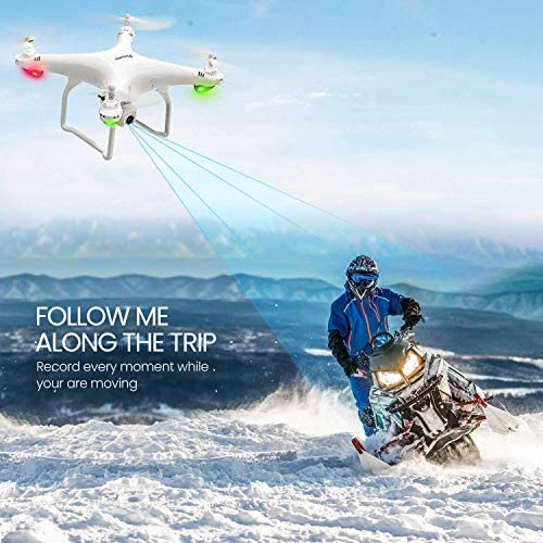 51uJVw1EWxL. AC  - Potensic D58 FPV Drone with 2K Camera for Adults, 5G WiFi HD Live Video, GPS Auto Return, RC Quadcopter for Beginners, Portable Case, 2 Batteries, Follow Me, Tap Fly, Altitude Hold, Expert-Upgraded