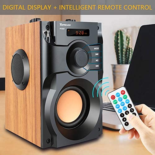 51xFFwjYLqL. AC  - Portable Bluetooth Speaker Wireless Subwoofer Stereo Bass Speakers Outdoor Powerful Speaker Support Remote Control FM Radio for Home Party, Travel, Camping, Indoor