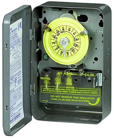 51ymP6Dg61L. AC  - Intermatic T104 Electromechanical Timer, 208-277 V, 40 A, 1-23 Hr, 1-12 Cycles Per Day, Gray