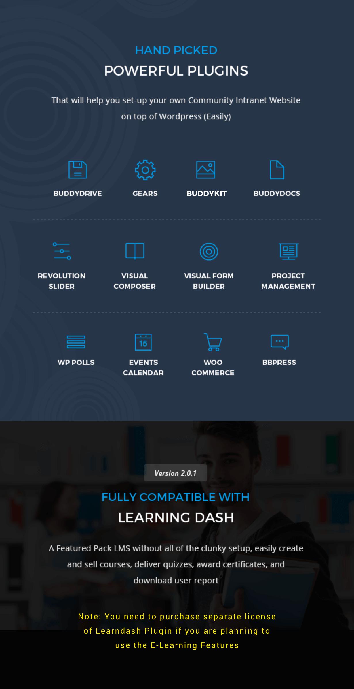 6 Handpicked+Powerful+Plugins - Thrive - Intranet & Community WordPress Theme