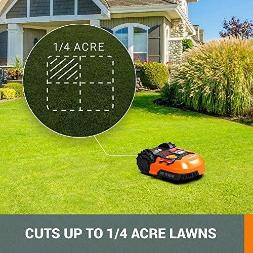 61H9UjS+khL. AC  - WORX WR140 Landroid M 20V Power Share Robotic Lawn Mower, Orange