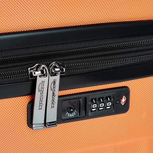 61gARw8hxwL. AC  - Amazon Basics Premium Hardside Spinner Suitcase Luggage with Wheels - 20-Inch, 28-Inch, Orange