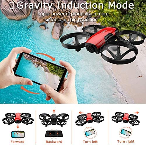 61qwkYtyVnL. AC  - SANROCK U61W Drones for Kids with Camera, Mini RC Drone Quadcopter with 720P HD WiFi FPV Camera, Support Altitude Hold, Route Making, Headless Mode, One-Key Start, Emergency Stop, Great Gift for Boys Girls