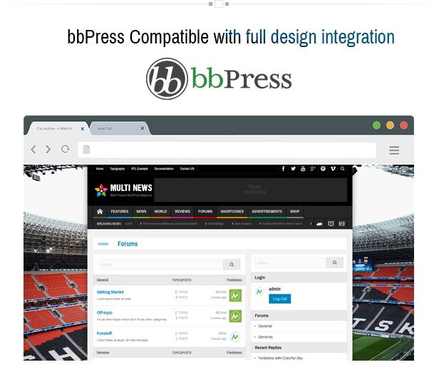 8 - Multinews   Magazine WordPress Theme
