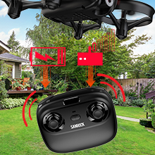 916f89b8 258c 462f a47f c1f9d82bb16c.  CR0,0,220,220 PT0 SX220 V1    - SANROCK U61W Drones for Kids with Camera, Mini RC Drone Quadcopter with 720P HD WiFi FPV Camera, Support Altitude Hold, Route Making, Headless Mode, One-Key Start, Emergency Stop, Great Gift for Boys Girls