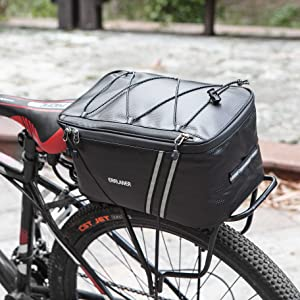 95634ff6 df01 4d01 b297 c47b22ea956f.  CR149,0,3648,3648 PT0 SX300 V1    - ERRLANER Bicycle Rack Rear Carrier Bag Insulated Trunk Cooler PU Leather Waterproof 11L/7L Large Capacity Storage Luggage Pouch Reflective MTB Bike Pannier Shoulder Bag with Rain Cover