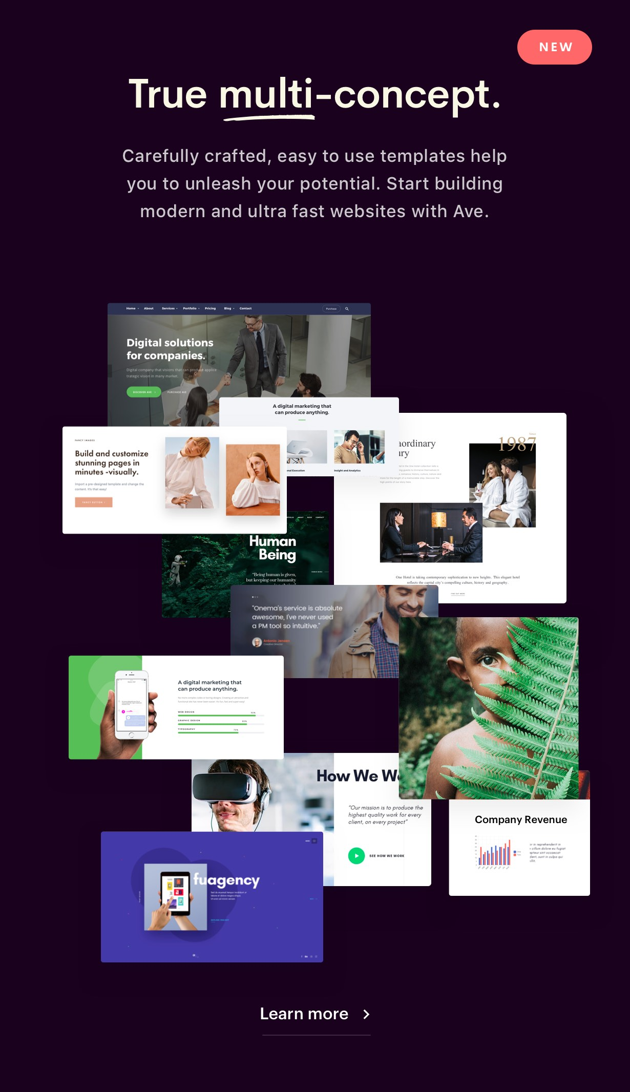 Collection 2 - Ave - HTML Responsive Multi Purpose Template