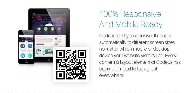 Description 04 - Codeus — Multi-Purpose Responsive Wordpress Theme