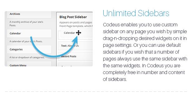 Description 15 - Codeus — Multi-Purpose Responsive Wordpress Theme