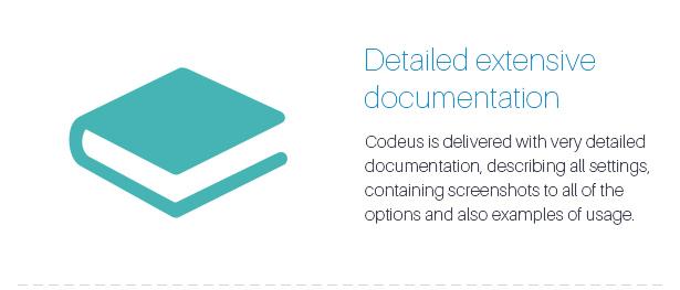 Description 21 - Codeus — Multi-Purpose Responsive Wordpress Theme