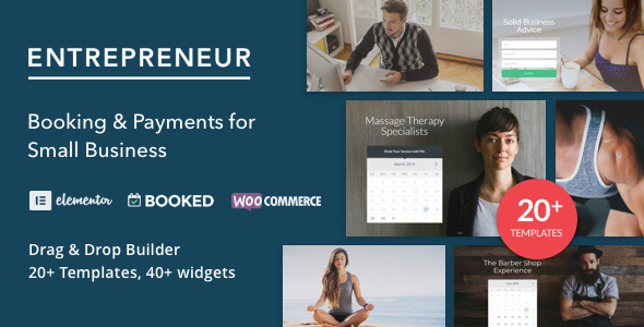 Entrepreneur Preview.  large preview - Entrepreneur - Booking for Small Businesses