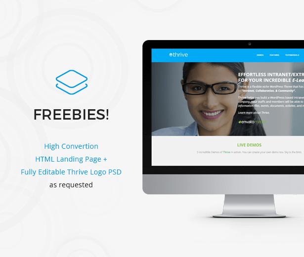 Freebies - Thrive - Intranet & Community WordPress Theme