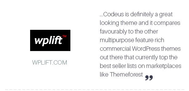Reviews 01 - Codeus — Multi-Purpose Responsive Wordpress Theme