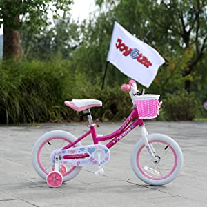a6e97f5e 85a6 48ec b202 170c452cbec7. CR0,0,1500,1500 PT0 SX300   - JOYSTAR Angel Girls Bike 12 14 16 18 Inch Kids Bike with Training Wheels for 2-9 Years Old, 18 Inch Kids Bike with Kickstand, Toddler Bicycle, Blue, Fuchsia, Purple